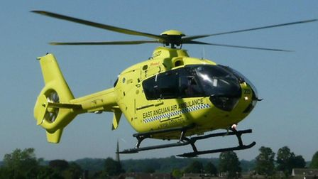 The East Anglian Air Ambulance was called