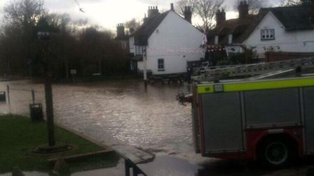 The Upper River Colne in London Colney flooded at the weekend