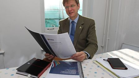 St Albans Cllr for Harpenden West Julian Daly looks over the councils housing growth forecasts