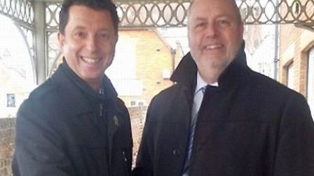 Lawrence Levy and Nick Archer have worked hard to boost attendances at Clarence Park this season.