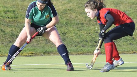 Action from Saturday's 0-0 draw with Cambridge City II. Picture: Helen Drake