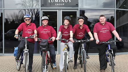 Roger Watson, Gary Pyle, Madeleine Brown, Philip Rozier and Joel Atkins complete the Luminus team.
