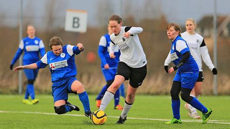 Jo Rutherford in action for Royston ladies side. Picture by Kevin Richards.