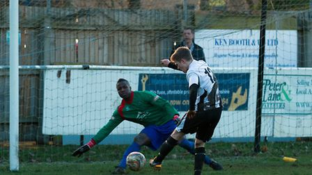 Matty Waters scored a hat-trick against Northwood. Picture: Louis Thompson