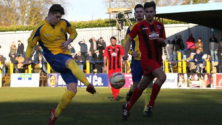 Elliot Bailey slots home the equaliser. Picture: Leigh Page