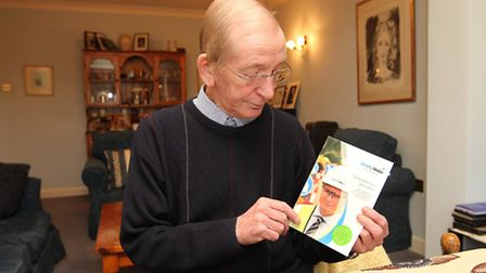 Bernard Stewart with the leaflet from Affinity Water which was put through his door