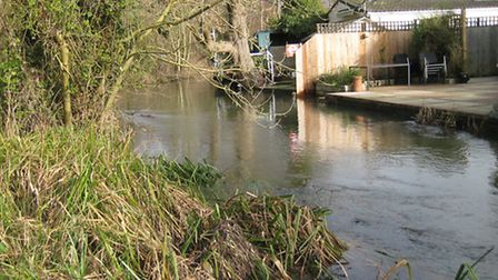 There was also flooding at Frogmore/Park Street, with the River Ver overflowing. Photo supplied by D