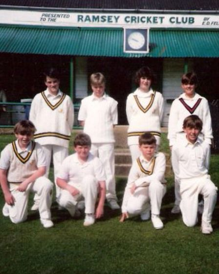 Ramseys under-13s team in a photo taken in 1993 or 94. Charlotte Edwards, the captain, stands second