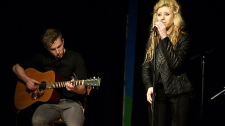 Summer Baxter and Reece Griffiths from Black Ivy, a Huntingdonshire based band who performed at last