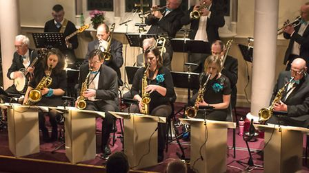 The Blue Skies big band in action at Royston Methodist Church