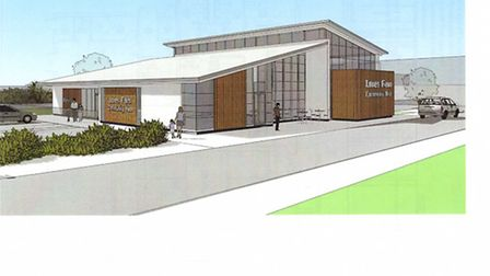 An artist's impression of the Loves Farm community centre in St Neots.