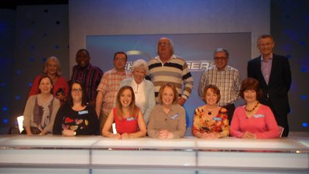 Business Belles with the Eggheads (bottom row left to right) Fiona Read, June Cory, Frances Pardell,