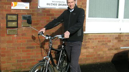 Paul Sanders would like to cycle to work more but says conditions are dangerous near Royston