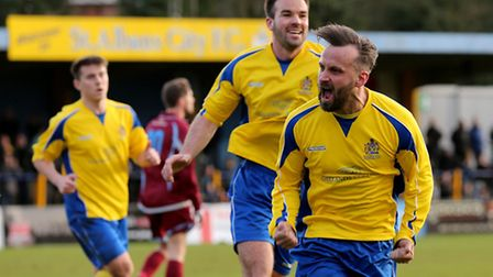 The joy is all over Peter Dean's face as he starts to celebrate after putting the Saints into a two