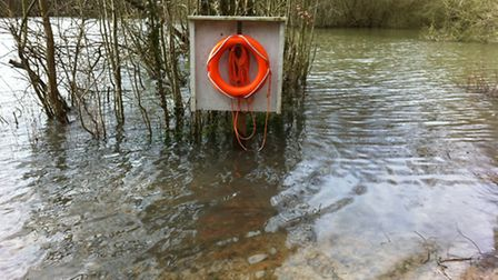 Fishing lakes in Frogmore were affected by recent heavy rain