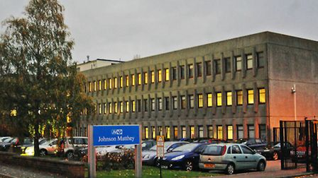 There was a chemical explosion at Johnson Matthey PLC in Royston last night