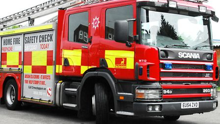 Firefighters were called to a building fire in Alconbury Weston.