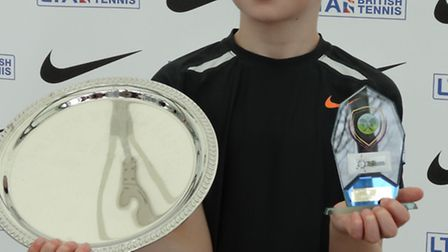 Oliver Tarvet with his national championship plate.