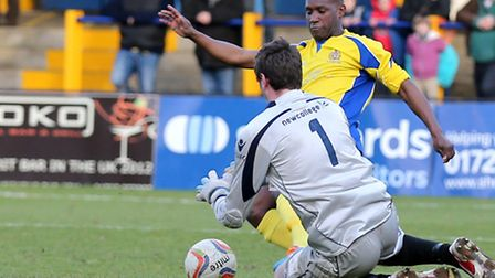 Chris Henry was a second-half substitue for St Albans City against Corby Town. Picture: Leigh Page