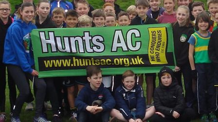 Some of the Hunts AC juniors who won the Frostbite League this season.