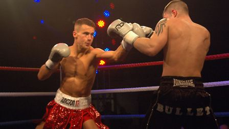 Tommy Martin won fight number seven when he beat Dougie Curran in Peterborough on Saturday. Picture: