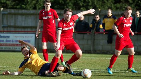 St Ives captain Lee Elison avades a challenge in Slough on Saturday. Picture: Louise Thompson