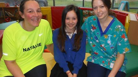 Natalie Beecher, with her 11-year-old niece and former Holly Ward patient Lily Gilbert and Holly War