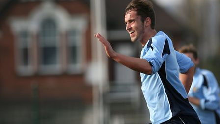 The joy is on Sam Corcoran's face after scoring the only goal of the game. Picture: Leigh Page