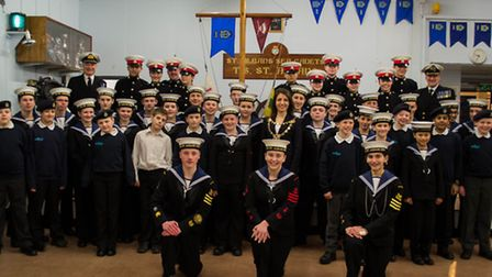 St Albans Sea Cadets celebrate their successful biennial Royal Naval inspection
