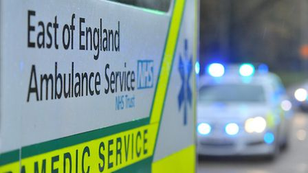 A man was airlifted to hospital after burning his face at work this morning