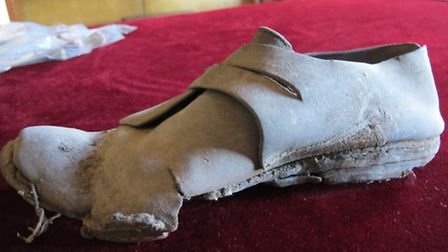A 17th century shoe discovered at Wimpole Hall