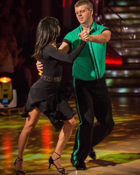 In Strictly Come Dancing for Sport Relief 2014 are Karen Hauer and Harpenden's David Clarke. Photos