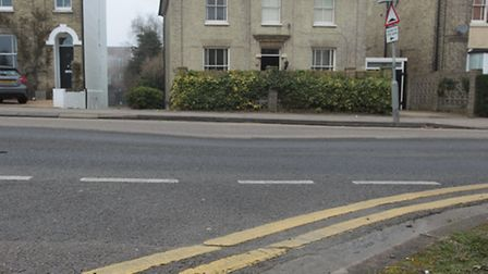 The dip in Old North Road, Royston