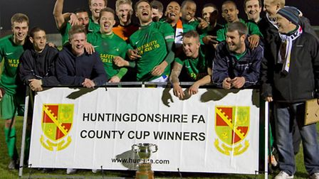 Great Paxton are the winners of the Hunts FA Scott Gatty Cup 2014. Picture: Claire Howes