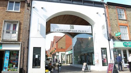 The entrance to Christopher Place