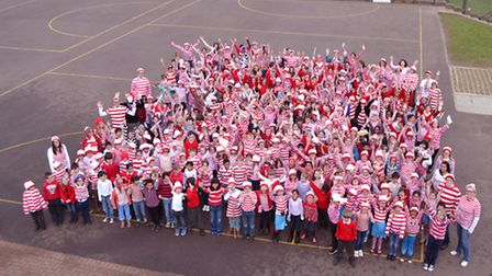 Bernards Heath Junior School celebrated World Book Day by dressing up as Where's Wally?