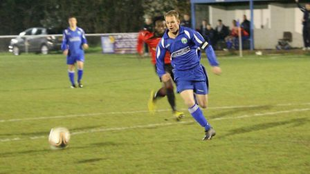 Matt Newman was on target for London Colney. Picture: James Whittamore