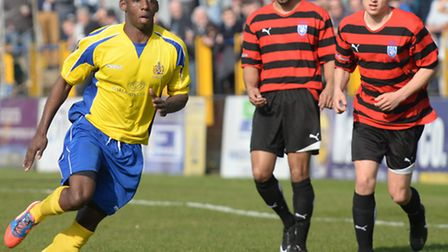 Warren Whitely made his full debut for St Albans City in Saturday's win over Burnham. Picture: Bob W