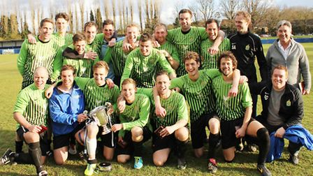 Skew Bridge beat Boars AFC 3-1 to win the Herts Sunday Senior Cup.