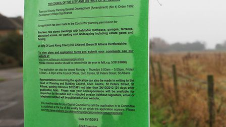 Controversial housing scheme planned for strip of land along Cherry Hill, Chiswell Green