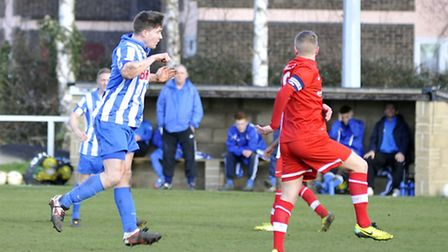 Eynesbury Rovers were beaten 2-1 at home by Oadby Town. Picture: Helen Drake