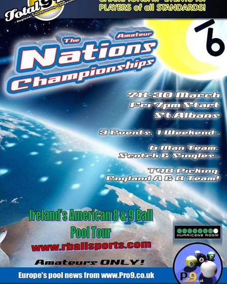 The Amateur Nations Cup is coming to St Albans on March 28-30.
