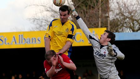 Ben Martin under pressure is unable to guide the ball toward goal. Picture: Leigh Page
