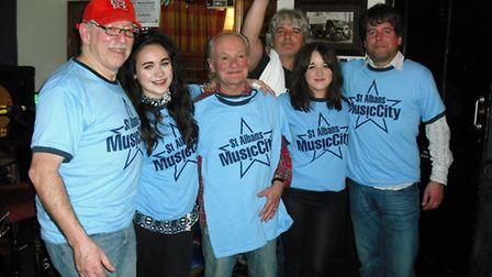 Left to right, Derik Timms, Anya Rodford, Jim Rodford, Steve Rodford, Cara Rodford and Russell Rodf