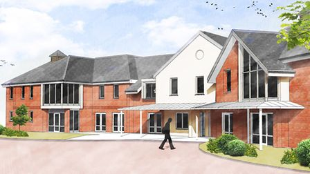 An artist's impression of the proposed care home at Little End Road, Eaton Socon.