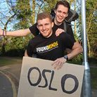 Alex Geraghty and George Bailey are hitchhiking across europe for the Young Minds charity