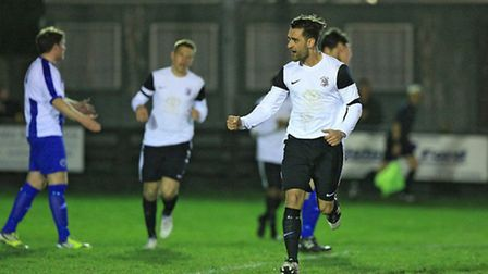 Kaan Fehmi celebrates. Picture by Kevin Richards.