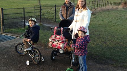 Emma Brown, with her husband Gary and their three children Callum, 5, Anya, 3 and Lucas 5 months, al