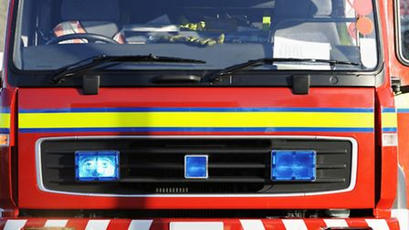 Firefighters were called to a van fire in St Peter's Road yesterday.