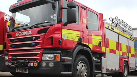 Firefighters were called to a car fire on the northbound A1 on Friday.